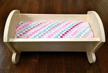 Rocking doll bed