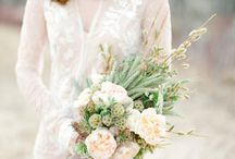 Style - Rustic / There's a certain layered, handcrafted nature about rustic weddings that make them so special. It's the pairing of elegant details and homespun style that create wedding magic. Let a farm, ranch or barn play host to your dream day and fill it with unexpected pairings such as homemade pies served on fine china, chandeliers hanging from unfinished wood ceilings, and lush flowers and greenery tied up with twine.