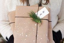 W R A P P I N G / Paper wrapped packages tied up with string