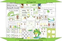 Jungle / Safari / Rainforest Preschool Ideas