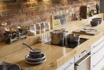 rustic brick kitchens / love the look of brick in a kitchen :-)