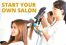 Start a Salon / Owning a salon is great for so many reasons: the work is creative and hands on, you get to meet amazing people and see first hand how you're affecting clients, and be proud to run your own small business.