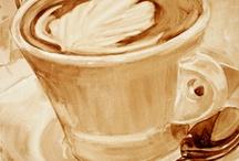festés kávéval