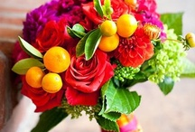 Mixed colours bouquets and table decorations. / All things bright and beautiful.