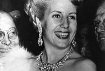 "Eva Perón's Touch of Star Quality / One of the many things Eva Perón did successfully during her time as the First Lady of Argentina was bring a touch of ""star quality"" into the political arena. Like many of the myths and rumors that surround her legacy, it has been said Perón owned over 400 dresses, 600 hats and dozens of shoes. With her impeccable fashion sense, she proved that a woman could possess both power and admirable feminine style. / by Theatre Under The Stars"