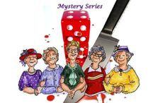 BUNCO BIDDIES MYSTERIES / cozy mysteries with a touch of sass and humor- follow twelve senior ladies in a retirement community who try to solve the crimes (in between their Thursday night Bunco games, of course) so Janie's son-in-law Chief Detective Blake can spend more time with her grandchildren and daughter.