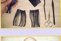 кукла волосы