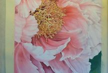 LARGE FLOWER PAINTINGS