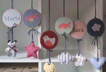 Móviles bebé / Móviles infantiles personalizados. Creados artesanaalmente por Stencil Barcelona