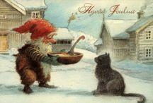 Vanhan ajan joulukortit