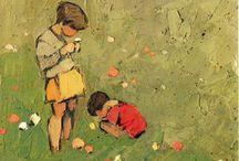 peinture personnage enfants