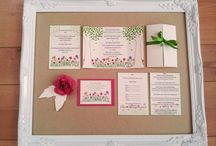 Paper Wedding - Beautiful brights / Selection of quirky colorful handmade Wedding stationery, designed and created by Paper Wedding.