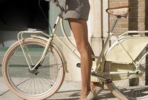 Girls on retro bike