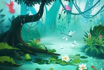 Illustration: Environment and Scenery / Awesome landscapes for children's books, video games, animation and doodles.