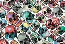 Patterns - skulls&hearts