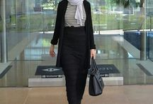 Office hijab style look