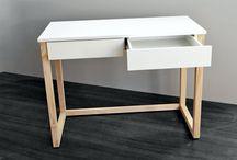 Desks / Simple design desks on pine-wooden legs.  #budgetdesign #minimalism #womeb #ilovepoland #scandinavian