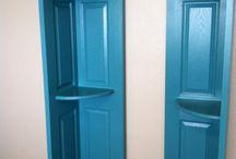 Spegeldörrar och gamla möbler trälås / Att göra om loppisfynd till dekorativa inredningsdetaljer