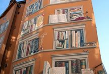 books in street art   книги в уличном искусстве