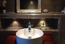 Renovation progress / Its a modern bathroom made in Norway :) it's beauty full and stilish, elegant and very calming I love it :) un baño exquisito en diseño y los tonos son frescos y limpios