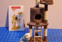 dollhouse miniature cat tree