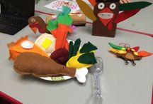 OT (Occupational Therapy) / During Thanksgiving week, in Miss Christy's OT session they had Turkeys and Thanksgiving feasts!  These cute little friends were helpful in aiding Fine Motor Planning through play with tongs and the scooter board.  They made a flannel meal for Thanksgiving and then used the tongs to pick up the flannel feast while balancing on the scooter board!  #RKAC #Thanksgiving2015 #OccupationalTherapy #OT #PediatricTherapy #FineMotor #FineMotorPlanning #ScooterBoard #FineMotorSkills #Flannel