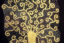 kunst op basis van Gustav Klimt