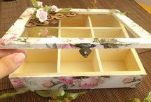tea box decopage