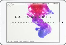 WEB DESIGN   La Galerie / La Galerie is a French website we created which allowed us to experiment with the HTML5 video tag. We wanted to create home page that incorperated a full screen video background for larger screens and a static graphic for smaller screens like tablets and smartphones.  The challenge was to ensure that no matter what the device was the website would load as quickly as possible whilst also providing an engaging user experience.   We also created the logo and branding for this project.