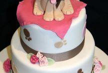 Dog themed bday caked