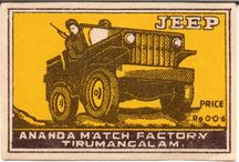 INDIAN MATCHBOX LABELS / Paper labels taken from boxes of indian matches. First half '60s.