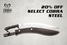 Windlass Cobra Steel / The Windlass Cobra Steel collection presents high grade stainless steel blades for tactical utility and outdoor survival.