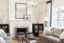 B+W living room