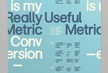 The Grid / Typography I project samples and inspiration