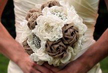 látkové svatební kytice