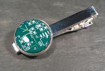 Circuit Board Tie Clip, Tie Bar