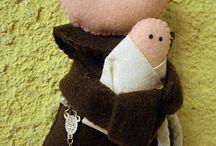 Santinhos em Feltro! / Modelos e moldes de santos, santas, figuras religiosas em feltro! Inspirem-se!