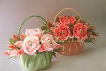 корзинки цветов