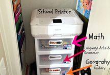 Homeschool organization & storage