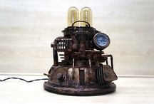Steampunk - Industrial table lamp , Hand Made