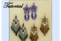 Beaded Earrings Pattern/Tutorials / by Bead-Patterns (Sova-Enterprises.com)