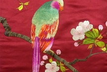 embroidery parrot