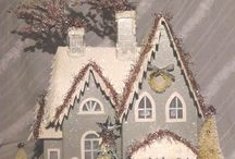 Christmas puntz houses / by Maria Bertrand