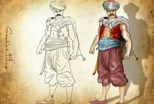 How to draw / How to draw İllustration of human, objects, Heroes anda villages