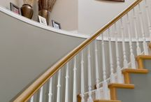 Painted hand rails