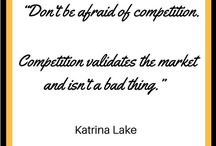 INSPIRATIONAL PINS No competition generally means there is a poor market... Do you agree?