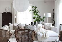 Hvit sofa, styling