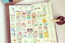 Sketch Notebook / Hobonichi Techo, ほぼ日手帳, Sketch Notebook, Bullet Journal, Midori Traveler, Filofax, Stationery, Washi Tape, Markers, Pencil Crayons, etc.