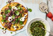 Chickpea flor pizza