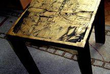 Mobilier/Furniture/meubles/ Möbel / Piese de mobilier, conceptie proprie sau doar decorate. Oricum,  gandite in primul rand ca suport pentru pictura, sau desen, sau gravura,sau ...